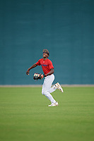 Jeffrey Nelson (58), from Maplewood, New Jersey, while playing for the Red Sox during the Baseball Factory Pirate City Christmas Camp & Tournament on December 30, 2017 at Pirate City in Bradenton, Florida.  (Mike Janes/Four Seam Images)