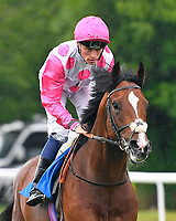 Mankayan ridden by Kieran Shoemark goes down to the start  of The Sorvio Insurance Brokers Maiden Stakes during Evening Racing at Salisbury Racecourse on 11th June 2019