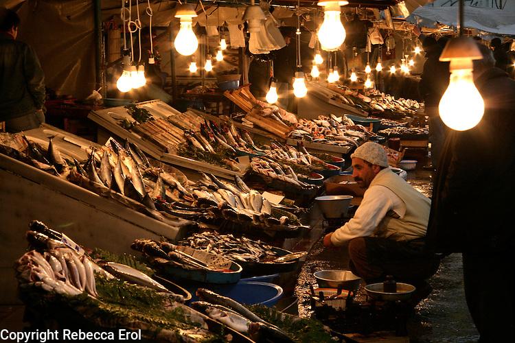 FISH MARKET AT KARAKOY, ISTANBUL, TURKEY
