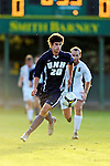 15 October 2008: University of New Hampshire Wildcats' forward Sean Coleman, a Freshman from Stratham, N.H., in action against the University of Vermont Catamounts at Centennial Field, in Burlington, Vermont. The Wildcats and Catamounts battled in overtime to a 0-0 tie...Mandatory Photo Credit: Ed Wolfstein Photo