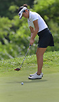 Momo Kikuchi of The Quarry at Crystal Springs golf course putts on the second day of the Metropolitan Amateur Golf Association's 20th Junior Amateur Championship being held at the St. Clair Country Club in Belleville, IL on July 2, 2019. <br /> Tim Vizer/Special to STLhighschoolsports.com