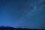 Night sky with stars over the Bodie Hills of California.