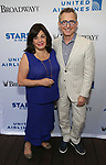 Charlotte St. Martin and Tom Schumacher attends the United Airlines Presents: #StarsInTheAlley Produced By The Broadway League on June 1, 2018 in New York City.