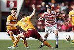 Louis Longridge skips past the Motherwell defence