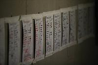 Lineup de naranjeros, durante el juego de beisbol de segunda vuelta de la Liga Mexicana del Pacifico. Segundo partido entre Charros de Jalisco vs Naranjeros de Hermosillo. 16 Diciembre 2017.<br /> (Foto: Luis Gutierrez /NortePhoto.com)
