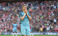 Manchester City's Kevin De Bruyne after a near miss<br /> <br /> Photographer Rob Newell/CameraSport<br /> <br /> The Emirates FA Cup Semi-Final - Arsenal v Manchester City - Sunday 23rd April 2017 - Wembley Stadium - London<br />  <br /> World Copyright &copy; 2017 CameraSport. All rights reserved. 43 Linden Ave. Countesthorpe. Leicester. England. LE8 5PG - Tel: +44 (0) 116 277 4147 - admin@camerasport.com - www.camerasport.com