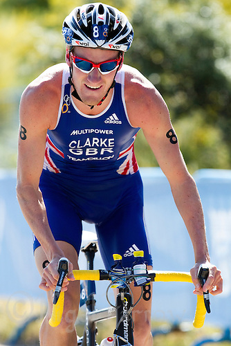04 JUN 2011 - MADRID, ESP - Will Clarke - Madrid round of triathlon's ITU World Championship Series  (PHOTO (C) NIGEL FARROW)