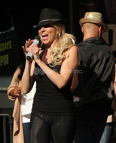 NEW YORK, NY-August 26: Debbie Gibson performed on Fox & Frends American Summer Concert Series  in New York. NY August 26, 2016. Credit:RW/MediaPunch