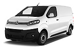 2017 Citroen Jumpy Business 5 Door Cargo Van Angular Front stock photos of front three quarter view