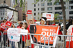 """One Life To Live's Linda Thorson """"Julia Medina"""" mom to Gabrielle (Fiona Hutchison) supports Bring Back Our Girls by attending the vigil - 500 Days on August 27, 2015 at Church Center for the United Nations followed by a vigil at the Nigeria House, New York City, New York"""