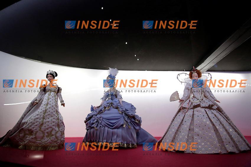 Giuseppina Bonaparte, Maria Antonietta and Queen Victoria<br /> Roma Museo del Vittoriano. Apertura della mostra 'Barbie, The icon'.<br /> Rome 14th April 2016. Museum of Vittoriano. Opening of the exhibition 'Barbie, the Icon'.<br /> Photo Samantha Zucchi Insidefoto