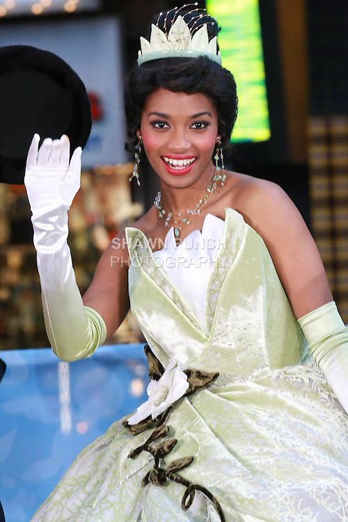 Princess Tiana attends the Disney Store grand opening in Times Square, November 9, 2010.