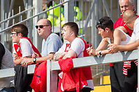 Fleetwood fans during the Sky Bet League 1 match between Bristol Rovers and Fleetwood Town at the Memorial Stadium, Bristol, England on 26 August 2017. Photo by Mark  Hawkins.