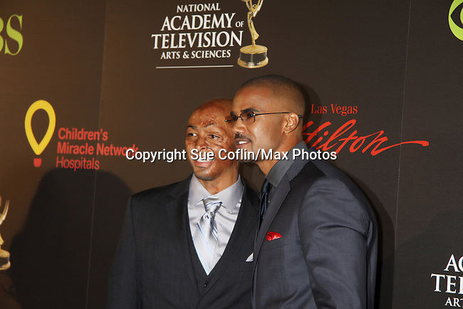 JR Martinez and Shemar Moore at the 38th Annual Daytime Entertainment Emmy Awards 2011 held on June 19, 2011 at the Las Vegas Hilton, Las Vegas, Nevada. (Photo by Sue Coflin/Max Photos)