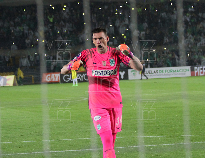 BOGOTA -COLOMBIA, 25-02-2017.  Franco Armani reacts during match Equidad vs Nacional.Action game between  La Equidad and Atletico Nacional during match for the date 5 of the Aguila League I 2017 played at Ne stadium . Photo:VizzorImage / Felipe Caicedo  / Staff