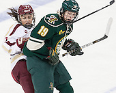 Kristyn Capizzano (BC - 7), Brittany Zuback (UVM - 19) - The Boston College Eagles defeated the visiting University of Vermont Catamounts 2-0 on Saturday, January 18, 2014, at Kelley Rink in Conte Forum in Chestnut Hill, Massachusetts.