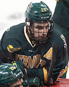 Anthony Petruzzelli (UVM - 28) - The visiting University of Vermont Catamounts tied the Boston College Eagles 2-2 on Saturday, February 18, 2017, Boston College's senior night at Kelley Rink in Conte Forum in Chestnut Hill, Massachusetts.Vermont and BC tied 2-2 on Saturday, February 18, 2017, Boston College's senior night at Kelley Rink in Conte Forum in Chestnut Hill, Massachusetts.