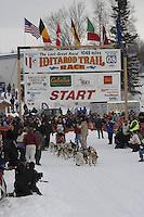 Warren Palfrey Willow restart Iditarod 2008.