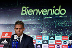 Mariano Diaz during his Official presentation of Mariano Diaz at Estadio Santiago Bernabeu in Madrid, Spain. August 31, 2018. (ALTERPHOTOS/A. Perez Meca)