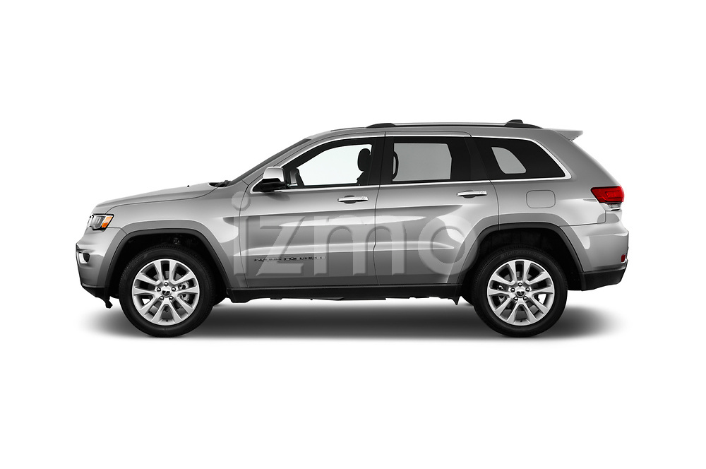 Car Driver side profile view of a 2017 JEEP Grand-Cherokee Limited 5 Door SUV Side View