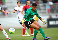 Boyds, MD - Saturday May 07, 2016: Portland Thorns FC goalkeeper Adrianna Franch (24) during a regular season National Women's Soccer League (NWSL) match at Maureen Hendricks Field, Maryland SoccerPlex. Washington Spirit tied the Portland Thorns 0-0.