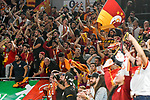 10.10.2018, ratiopharm arena, Neu-Ulm, GER, EC, rathiopharm ulm vs Galatasaray Istanbul, im Bild jubelnde Fans von Galatasaray Istanbul<br /> <br /> Foto &copy; nordphoto / Hafner