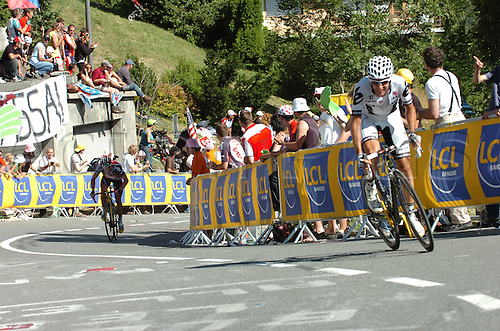 2009, Tour de France, tappa 15 Pontarlier - Verbier, Cervelo Test, Silence - Lotto, Sastre Carlos, Evans Cadel, Verbier July 19th 2009.  Stage 15 Pontarlier to Verb (Photo: Stefano Sirotti/ActionPlus)