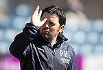 Dundee v St Johnstone...25.04.15   SPFL<br /> Dundee manager Paul Hartley waves to the fans<br /> Picture by Graeme Hart.<br /> Copyright Perthshire Picture Agency<br /> Tel: 01738 623350  Mobile: 07990 594431