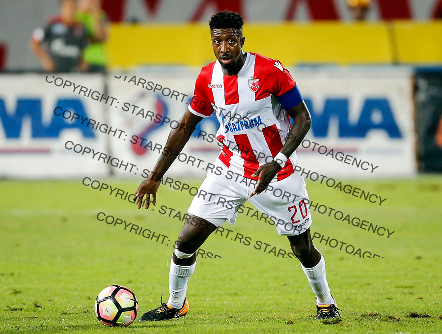 Mitchell Donald first foreigner player captain of FC Crvena Zvezda prvi stranac kapiten, Crvena Zvezda - Sparta Prag 27.7.2017. Beograd, Srbija, Europa league, liga Evrope qualification match, kvalifikaciona utakmica<br /> 27. Jul 2017. (credit image &amp; photo: Pedja Milosavljevic / STARSPORT)