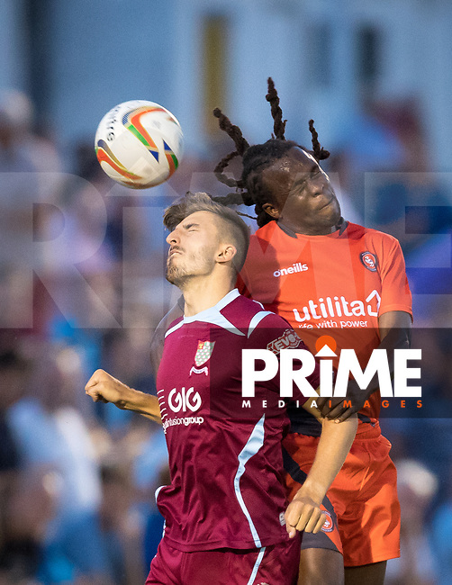 Marcus Bean of Wycombe Wanderers during the 2018/19 Pre Season Friendly match between Chesham United and Wycombe Wanderers at the Meadow , Chesham, England on 24 July 2018. Photo by Andy Rowland.
