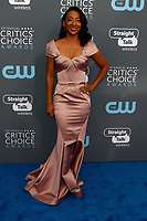 Betty Gabriel attends the 23rd Annual Critics' Choice Awards at Barker Hangar in Santa Monica, Los Angeles, USA, on 11 January 2018. Photo: Hubert Boesl - NO WIRE SERVICE - Photo: Hubert Boesl/dpa /MediaPunch ***FOR USA ONLY***