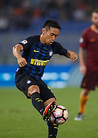 Calcio, Serie A: Roma vs Inter. Roma, stadio Olimpico, 2 ottobre 2016.<br /> FC Inter&rsquo;s Yuto Nagatomo controls the ball during the Italian Serie A football match between Roma and FC Inter at Rome's Olympic stadium, 2 October 2016.<br /> UPDATE IMAGES PRESS/Isabella Bonotto