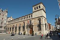 Palacio de los Guzmanes palace , Plaza San Marcelo , Leon spain castile and leon