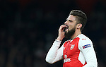 Arsenal's Olivier Giroud in action during the Champions League group A match at the Emirates Stadium, London. Picture date November 23rd, 2016 Pic David Klein/Sportimage