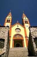 Peter and Paul Catholic Church color in Telfs Austria near Innsbruck