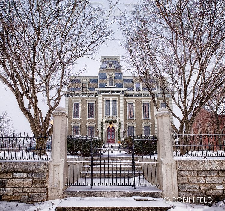 Bossler Mansion Winter: St. Anne's Hill, Dayton Ohio