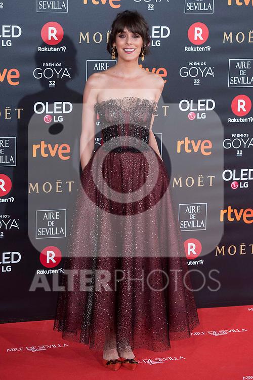 Belen Cuesta attends red carpet of Goya Cinema Awards 2018 at Madrid Marriott Auditorium in Madrid , Spain. February 03, 2018. (ALTERPHOTOS/Borja B.Hojas)