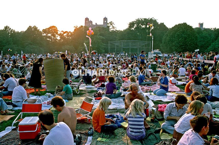 Show de música no Central Park. Nova York. EUA. 1984. Foto de João Caldas.
