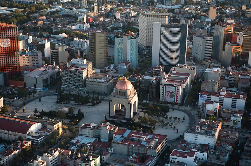 Monumento a la Revolucion. Aerial photos of Mexico City, Mexico