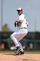 Detroit Tigers pitcher Justin Verlander (35) during a Spring Training game against the Washington Nationals on March 22, 2015 at Joker Marchant Stadium in Lakeland, Florida.  The game ended in a 7-7 tie.  (Mike Janes/Four Seam Images)
