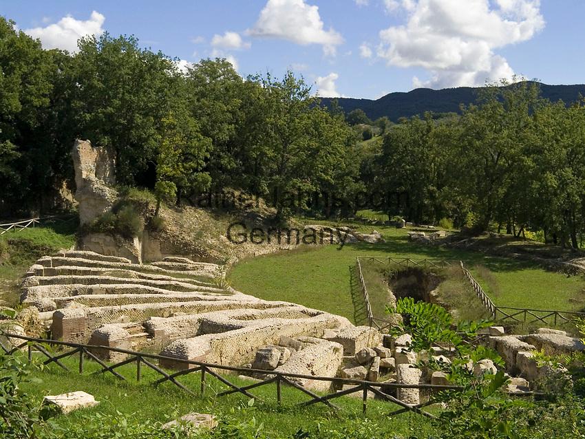 "Italien, Latium, Monteleone in der Region Sabina: Parco archeologico ""Trebula Mutuesca""   Italy, Lazio, Monteleone at Region Sabina: Parco archeologico ""Trebula Mutuesca"""