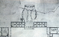 Thomas Jefferson: University of Virginia Plan, Detail: the Rotunda 1822.