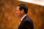 Randall Stephenson, the CEO of AT&T arrives at Trump Tower in Manhattan, New York, U.S., on Thursday, Thursday, January 12, 2017. <br /> Credit: John Taggart / Pool via CNP