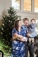 Barbara, Jordan, Jack and newborn Maeve in Asheville, NC Monday, December 18, 2017. (Justin Cook)
