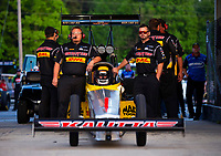May 4, 2018; Commerce, GA, USA; Crew members for NHRA top fuel driver Richie Crampton during qualifying for the Southern Nationals at Atlanta Dragway. Mandatory Credit: Mark J. Rebilas-USA TODAY Sports