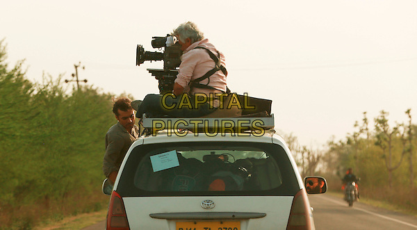 Imtiaz Ali (director) &amp; Anil Mehta (Cinematographer)<br /> on the set of Highway (2014) <br /> *Filmstill - Editorial Use Only*<br /> CAP/NFS<br /> Image supplied by Capital Pictures