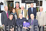 The original organising committee that raisied the funds to build St Michael's church, Killorglin makes a presentation to Archdeacon Malcolm Shannon at his retirement celebrations in Kate Kearney's Cottage, Beaufort on Sunday front row l-r: Cannon Michael Fleming, Archdeacon Malcolm Shannon, Gary Ledwith. Back row: Liam Crowley, Dorthea Stephens, John Flynn, WD O'Grady, Rev Jim Stephens and Austin O'Reilly