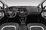 Stock photo of straight dashboard view of 2016 KIA Ceed Sense 5 Door Hatchback Dashboard