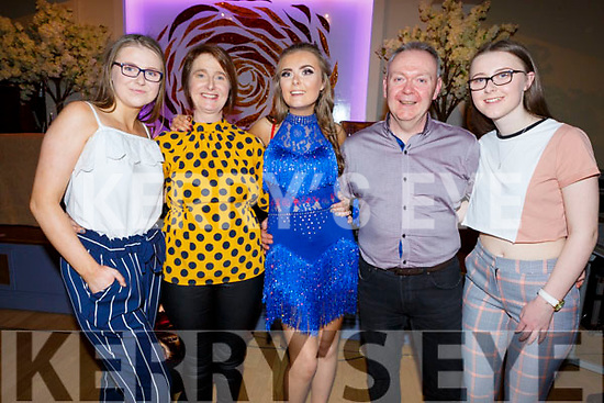 The Curran family from Ballymac enjoying the Ballymac Strictly Love dancing in the Ballygarry House Hotel on Saturday. L to r: Lisa, Nora, Ciara, Anthony and Eimear Curran.