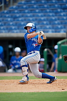 Toronto Blue Jays Davis Schneider (5) at bat during an Instructional League game against the Philadelphia Phillies on September 23, 2019 at Spectrum Field in Clearwater, Florida.  (Mike Janes/Four Seam Images)